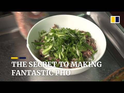 Owner of top pho restaurant in Hanoi, Vietnam share his secret to success