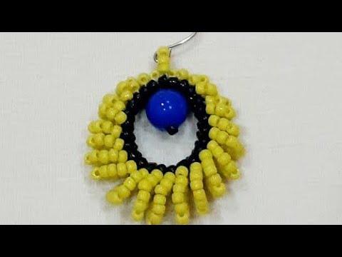 Серьги из бисера Жемчужинка | Earrings from beads Pearl