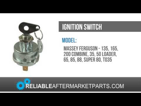 Massey Ferguson 65 Ignition Wiring Diagram: 883928M1 New Massey Ferguson Tractor Ignition Switch 135 178 65 35 rh:youtube.com,Design