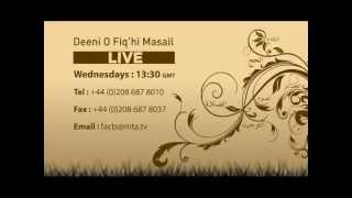 Deeni-O-Fiqahi Masail - Live  (Ramadhan Special)