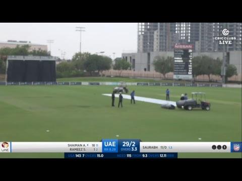 LIVE CRICKET - UAE v USA Twenty20 International