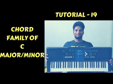 How To Play chords On Keyboard/Piano | Lesson 19 | Chord Family Of C Major/Minor
