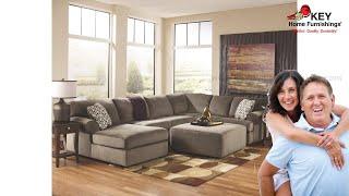 Ashley Jessa Place 3 Piece Sectional With Ottoman (APK-39802-L4) | KEY Home