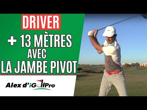 DISTANCE Au Golf: Améliorez Votre DISTANCE Au DRIVER Sans Forcer Avec La JAMBE PIVOT