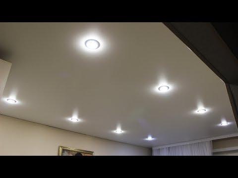 Точечные светильники вместо люстр