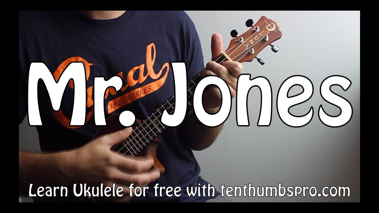 Mr. Jones - Counting Crows - Easy Ukulele Beginner Song Tutorial