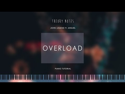 How to Play John Legend ft. Miguel - Overload   Theory Notes Piano Tutorial
