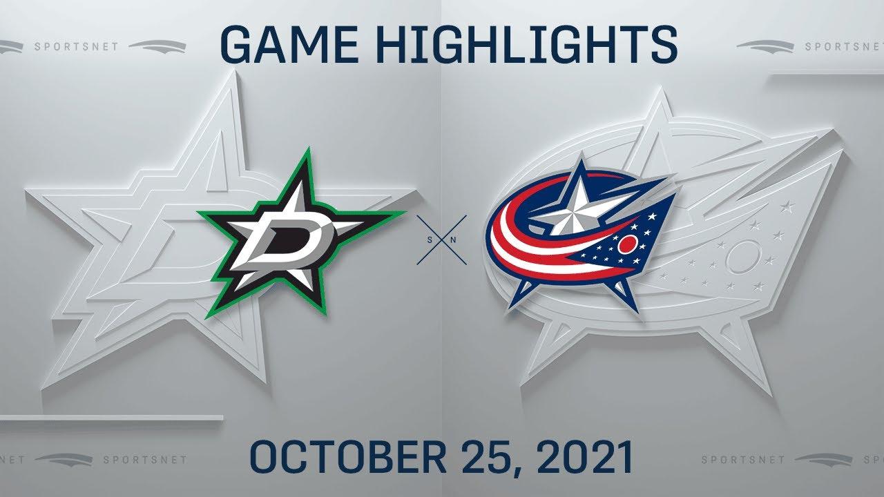 Download NHL Highlights | Stars vs. Blue Jackets - Oct. 25, 2021