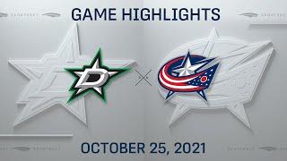 NHL Highlights   Stars vs. Blue Jackets - Oct. 25, 2021