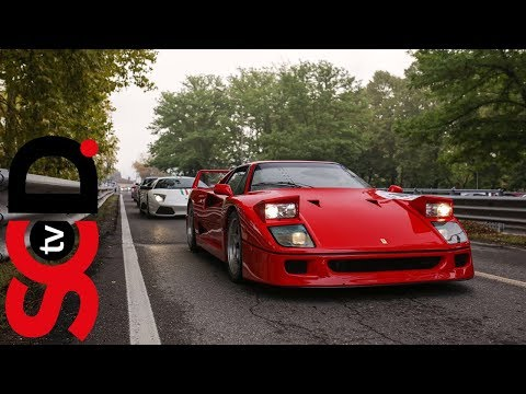Ferrari F40 at full chat on a closed road // Best of Italy Race 2017