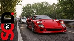 Ferrari F40 At Full Chat On A Closed Road // Best Of Italy Race 2017   SCD Extra