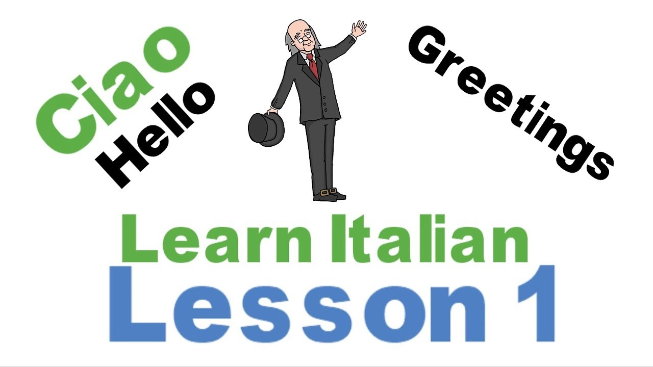 Learn italian lesson 1 grettings and farewells youtube learn italian lesson 1 grettings and farewells kristyandbryce Image collections
