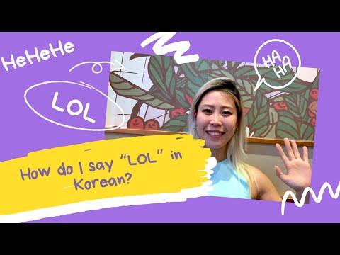 "How do I say ""LOL"" in Korean?"