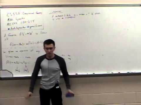 Computational Geometry Lecture 1:  Review of linear algebra