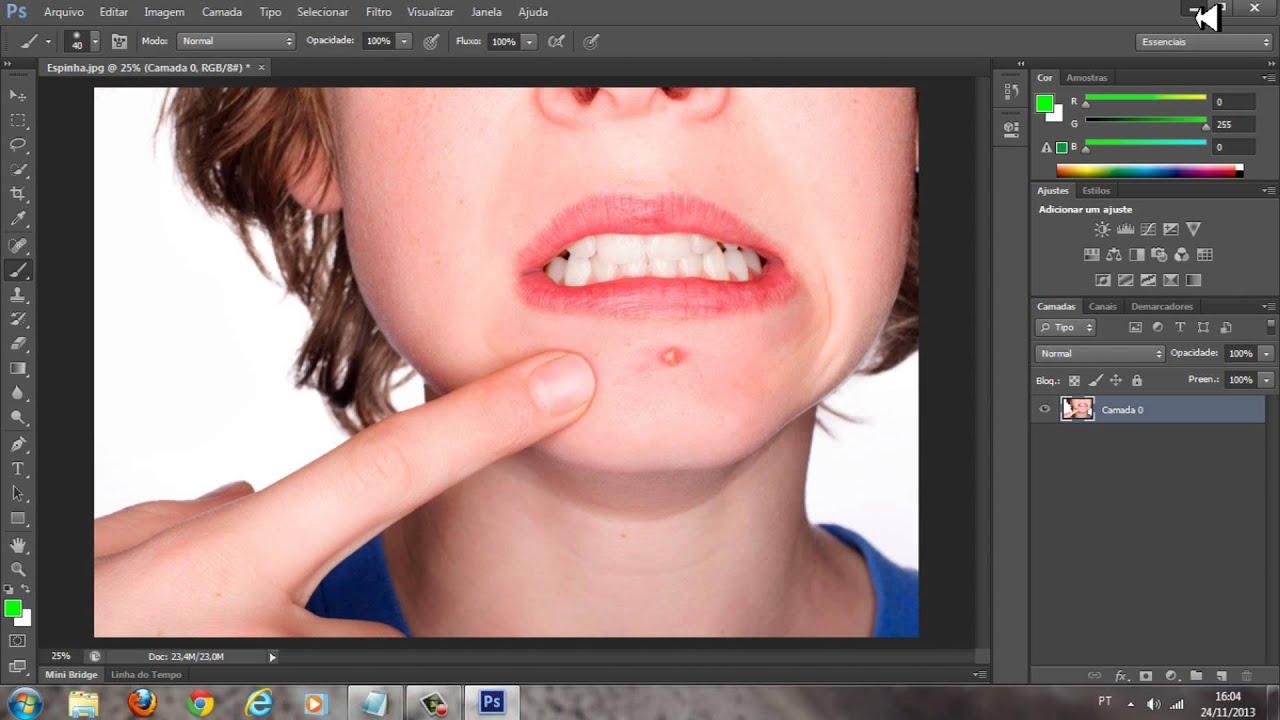 Como remover manchas de fotos no photoshop 5