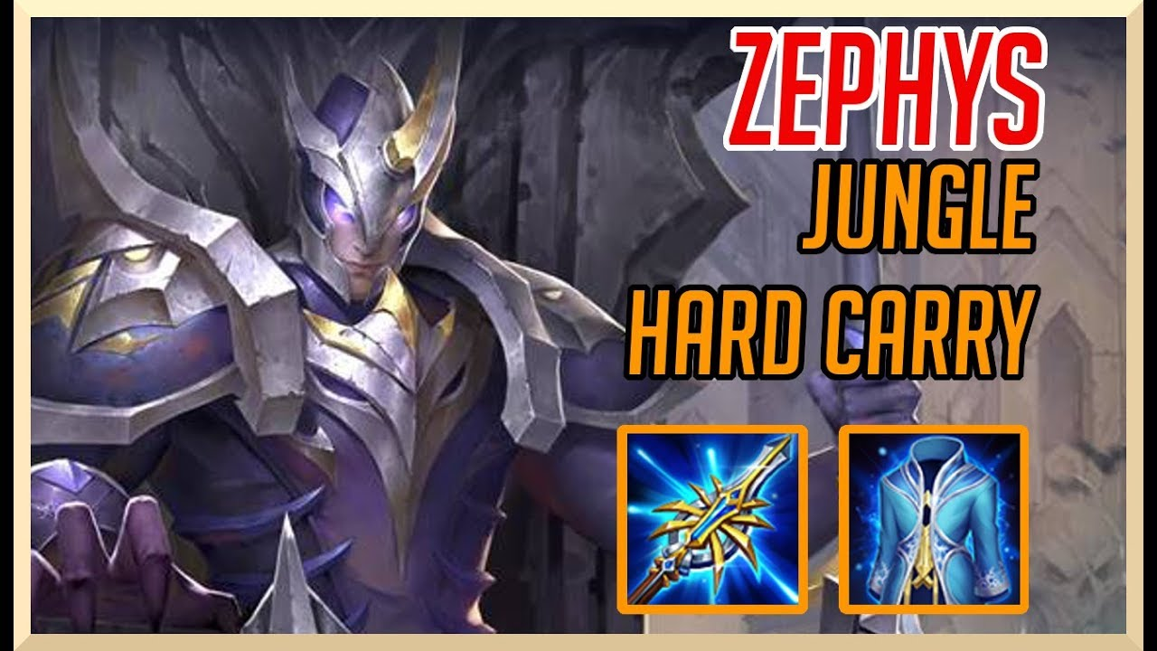 Aov Zephys The Jungle Hard Carry Clean Game Arena Of Valor Zephys Gameplay Guide