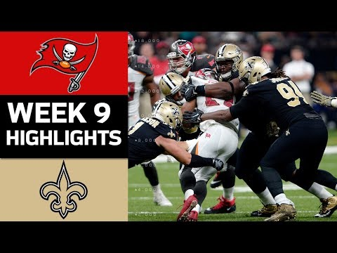 Buccaneers vs. Saints | NFL Week 9 Game Highlights