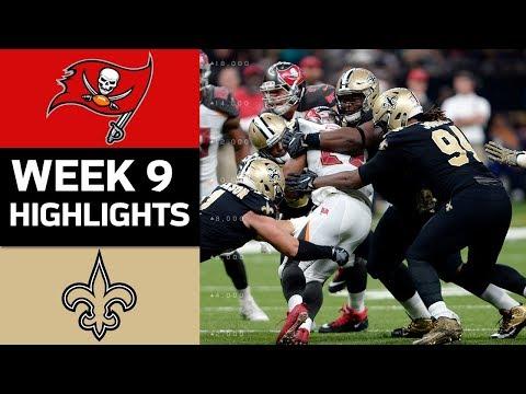 Buccaneers vs. Saints  NFL Week 9 Game Highlights