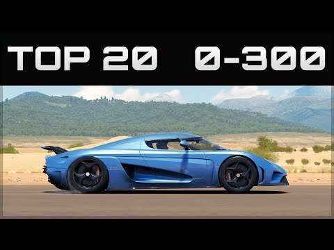 TOP 20 FASTEST 0-300 CARS | Forza Horizon...