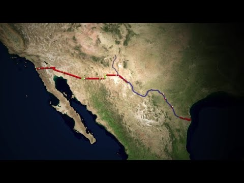 The US-Mexico border | AFP Animé