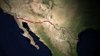 The US-Mexico border   AFP Animé
