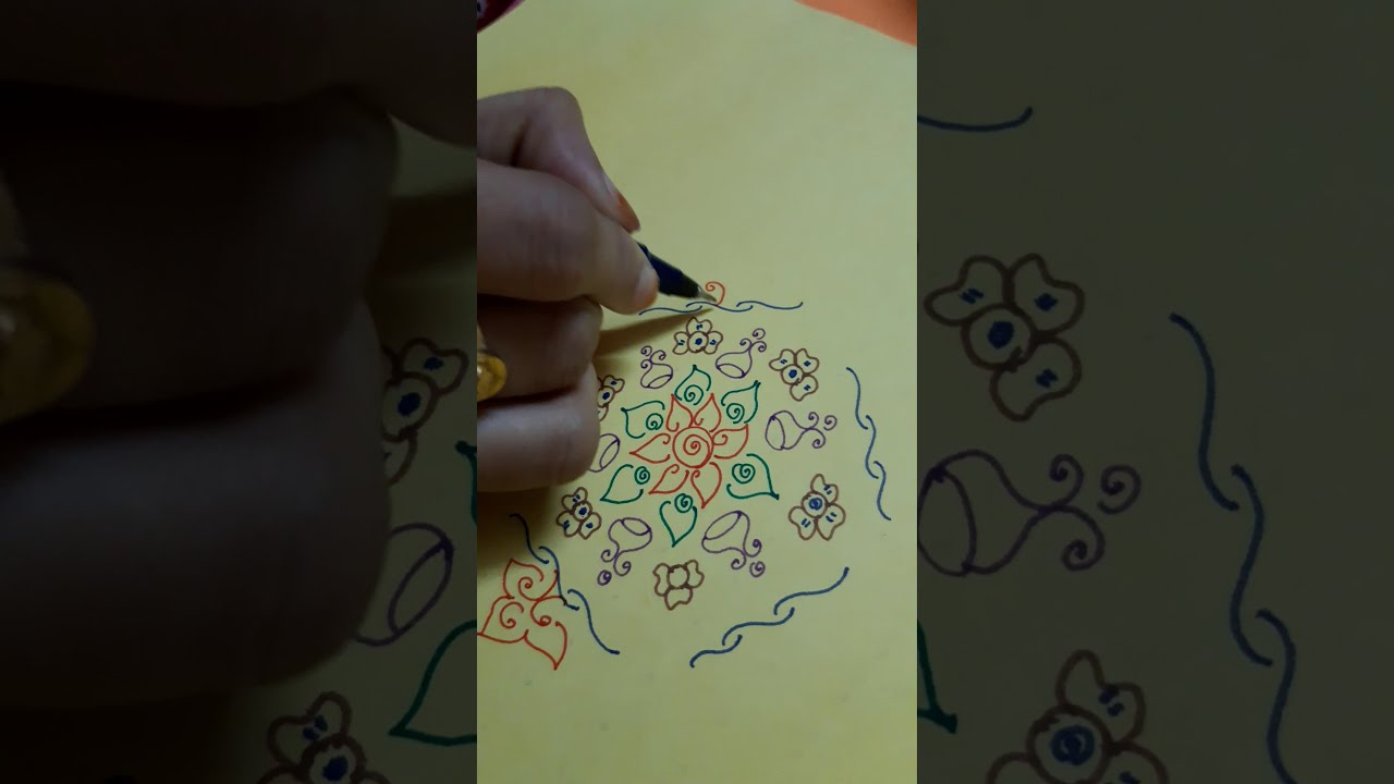 Normal Rangoli Design Youtube