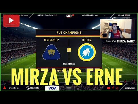 MIRZA VS ERNE VON FEELFIFA IN FUT CHAMPIONS! | FIFA 18 WEEKEND LEAGUE