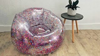 Inflatable Glitter Chairs are the Perfect '90s Throwback!