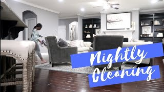 CLEAN WITH ME NIGHT ROUTINE  KITCHEN,COOKING & GROCERY HAUL