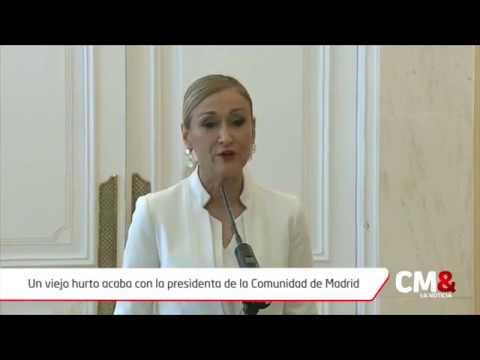 Un viejo hurto acaba con la presidenta de la Comunidad de Madrid