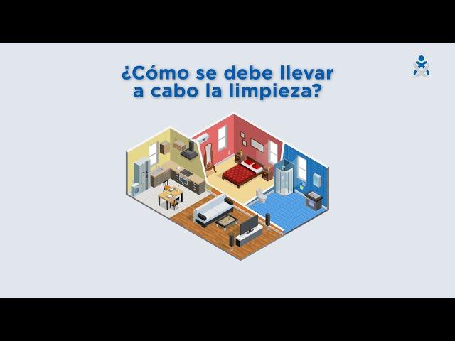 Limpieza del domicilio con un afectado por COVID-19