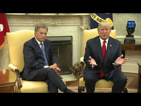 Trump Meets with Finland's President Niinistö - Full Event