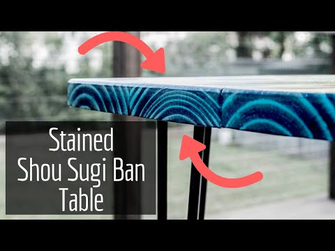 Stained Shou Sugi Ban Table - DIY Yakisugi