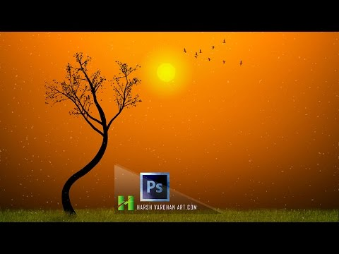 Photoshop Compositing Tutorial for Beginners- Photo Manipulation-Stand alone Tree Sunset