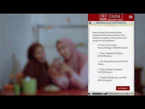Tutorial Pendaftaran Mahasiswa Baru UMM 2018