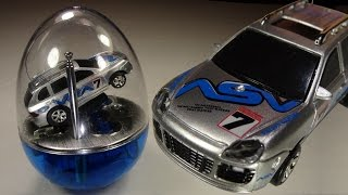 Opening: Egg Shell Mini Racer! Tiny RC car, with test drive!