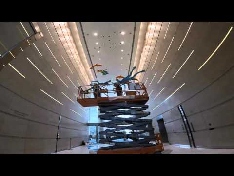 Uri Dushy Sculpture Installation at the Ocean Financial Centre , Singapore