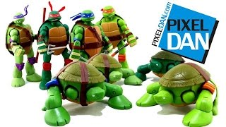 Teenage Mutant Ninja Turtles Mutations Pet Turtle to Ninja Turtles Figures Video Review