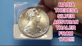 Two 1780 Maria Theresa Silver Austrian Thalers!