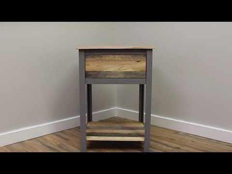 DIY Industrial Nightstand | Reclaimed Pallet Wood