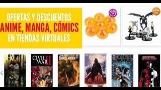 Tiendas online para comprar productos de anime, manga, videojuegos y cómics