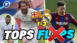 Barça-Real Madrid (1-3) : Ramos en héros, Benzema a tout réussi, Lenglet se loupe | Tops et Flops