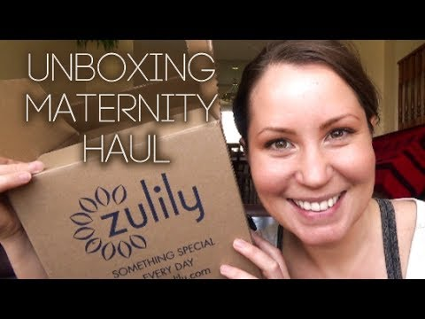 51ab25a3601 ZULILY UNBOXING - Maternity Clothing Haul - YouTube