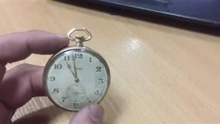антиквариат часы карманные LAMINOR позолота обзор продажа