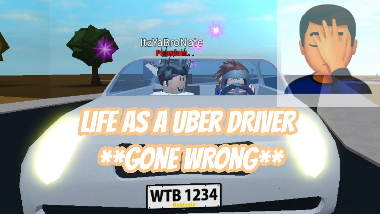 Being a Uber / Taxi Driver in BloxBurg!! GONE WRONG