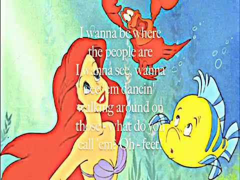 The Little Mermaid - Part of Your World (Lyrics)