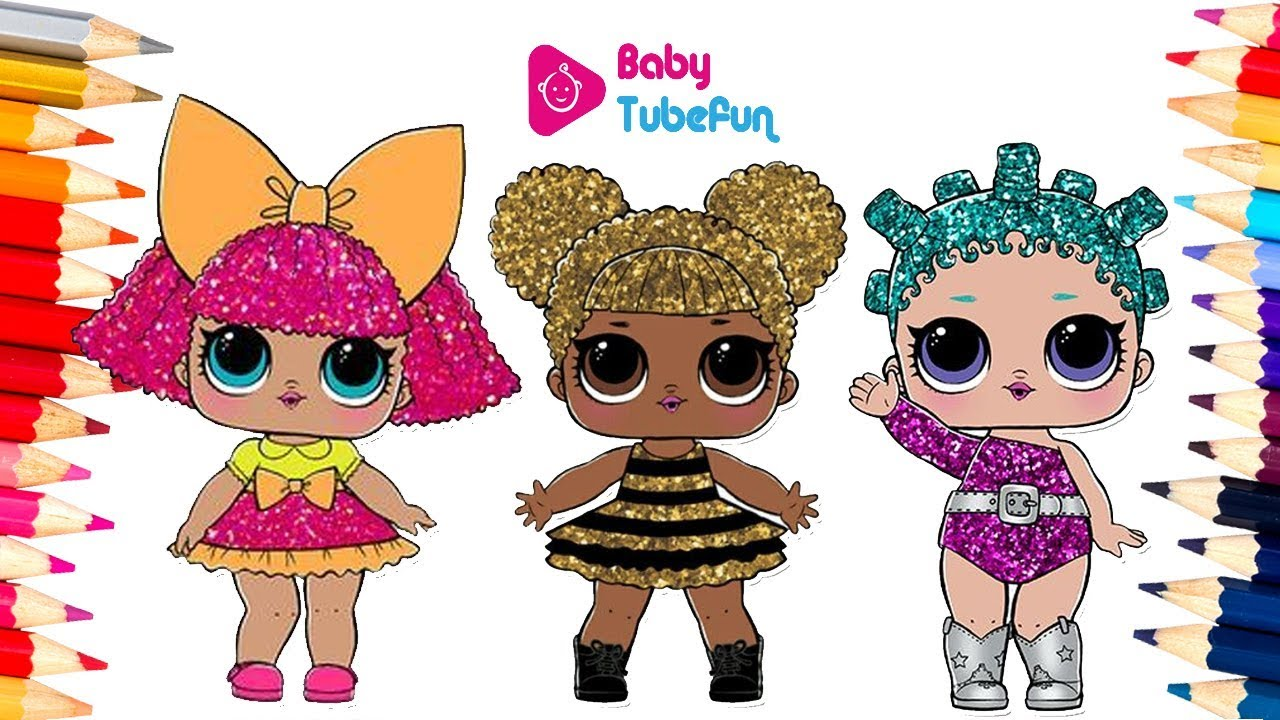 colouring lol surprise dolls colouring pages, Glitter ...