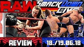 WWE RAW vs. SmackDown Review - ROUSEY SUSPENDIERT - RUSEV MOTIVIERT! + Cam (Deutsch/German)