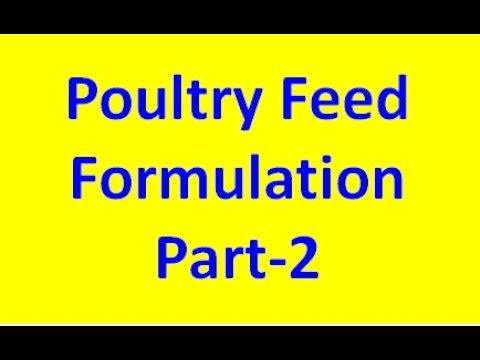 Poultry Feed Formulation Part-2 For India ( Hindi ) Poultry India TV