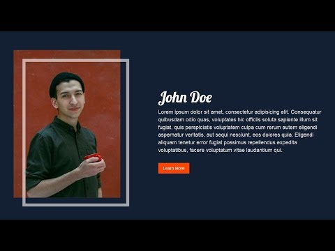 Creative image border using html and css   About us Section design